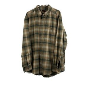 WOLVERINE Mens XXL Button Front Long Sleeve Plaid